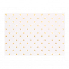 Gift card with gold polka dots.