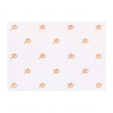 Gift card with rose gold XO, kisses and hugs.