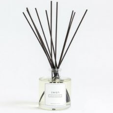 Swan reed scent diffuser with peony and marshmallow scent.