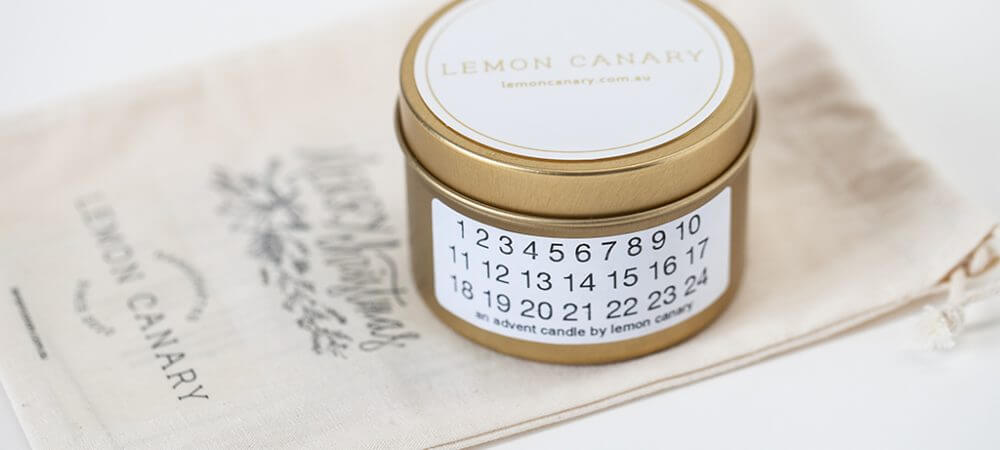 Lemon Canary   Soy Candles + Organic Essential Oils   With