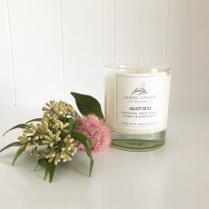 200hr AUSTRALIAN LEMON MYRTLE Essential OIL Scented Natural CANDLE Gift Wrapped
